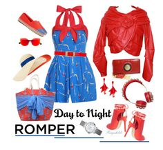 """""""Day to Night: Rompers"""" by ragnh-mjos ❤ liked on Polyvore featuring Emanuel Ungaro, Tory Burch, Topshop, Eugenia Kim, Dolce&Gabbana, Marni, RetroSuperFuture, Oscar de la Renta and Mud Pie"""