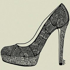 My kind of Cinderella shoes #doodle #draw #sketch @Lolo Sianipar