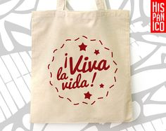 Buy on http://hispanicoPL.etsy.com // #spanish #bag #tote #gift #espanol #regalo #bolsa #eco #prezent #hiszpański #hiszpanska #torba