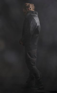 Wooden clothes feature in Iceland-based fashion designer Sruli Recht's Autumn Winter 2013 menswear collection.