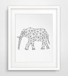 Origami Art, Geometric Elephant, Elephant Print, Printable Art, Geometric Prints, Wall Prints, Digital Art, Downloads, Elephant Art by MelindaWoodDesigns on Etsy https://www.etsy.com/listing/219090088/origami-art-geometric-elephant-elephant
