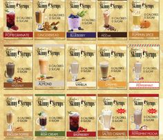 Skinny Mixes - Jordans Skinny Syrups - All Flavours - all 0 syns Skinny Recipes, Ww Recipes, Syrup Recipes, How To Eat Paleo, Food To Make, Syn Free Desserts, Cocktail Syrups, Cocktails, Drinks