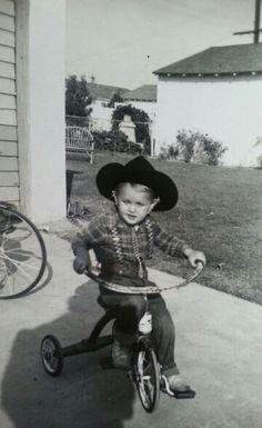 Cowboy on wheels. Ca. 1940's