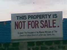 NOT For Sale By Owner!