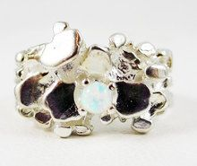Opal Nugget Sterling Silver Ring