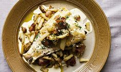 Nigel Slater's smoked haddock with potato and bacon. Photograph: Jonathan Lovekin for Observer Food Monthly Fish Recipe Low Carb, Spicy Fish Recipe, Breaded Fish Recipe, Blackened Fish Recipe, Best Fish Recipes, White Fish Recipes, Salmon Recipes, Seafood Recipes, Seafood Meals