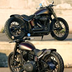 Thunderbike customized Harley-Davidson Softail Slim with new fork-covers & wheels.