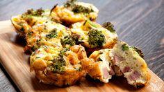 Mini Ham And Broccoli Frittatas  #PaleoLeap