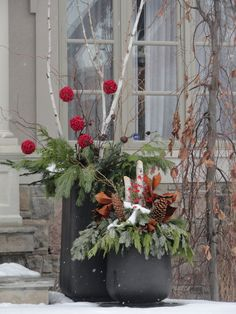Outdoor Planters for Fall/Winter