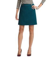 Button Tab Waist Skirt