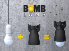 Gamer Bomb Lamp printed Digital image, not photo! Socket, bulb lamp, and wire, not included! you can find similar pins below. We have brought the b. Game Room Lighting, Cool Lighting, Diy 3d Drucker, Room Lights, Ceiling Lights, 3d Printing Diy, Room Lamp, Desk Lamp, Lamp Table