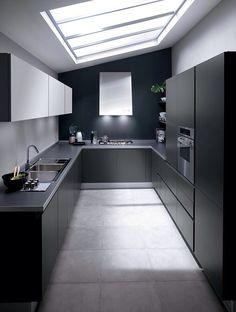 A Short House Guide For contemporary interior design ideas decor Minimal Kitchen Design, Kitchen Room Design, Home Decor Kitchen, Interior Design Kitchen, Kitchen Ideas, Black Kitchens, Home Kitchens, Küchen Design, House Design