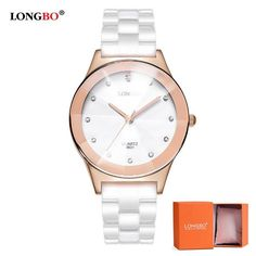 84982ce34c5 LONGBO Brand Watches Women Fashion Watch 2018 White Ceramic Luxury  Waterproof Jelly Quartz Wrist Watches Relogio