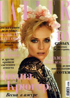 Diane Kruger na Tatler Russia