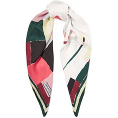 Emilio Pucci - Printed Silk-satin Twill Scarf (€180) ❤ liked on Polyvore featuring accessories, scarves, multi, emilio pucci, print scarves, multi colored scarves, colorful shawl and colorful scarves