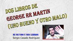 En este vídeo os hablo de 2 libros de George RR Martin, uno que me ha gustado y otro que no. George Rr Martin, Videos, Baseball Cards, Book Reviews
