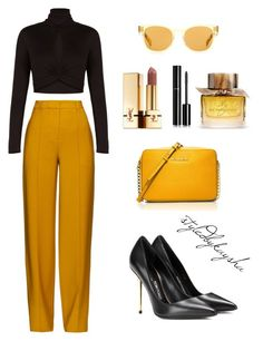 """Untitled #36"" by styledbykaysha on Polyvore featuring Tom Ford, ADAM, BCBGMAXAZRIA, MICHAEL Michael Kors, Oliver Peoples, Burberry, Chanel, Yves Saint Laurent, women's clothing and women"