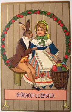 Bizarre Old Easter Card / vintage-