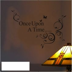 Once Upon a Time...Wall Quote | Nursery & Kids Wall Decal