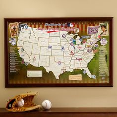 Map Your Travels: Unique baseball map displays all the major league ...