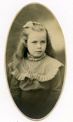Lois Lenski, author and illustrator as a child