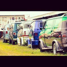Vintage custom vans