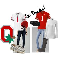 Ohio State Buckeyes ... just change the shoes for both outfits and I <3