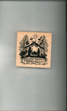 Silent Night Holy Night PSX Rubber Stamp K 1196 Only One Available In Store Today @