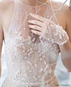 mira zwillinger bridal 2017 sleeveless illusion jewel neck sheath wedding dress (laurel) zv