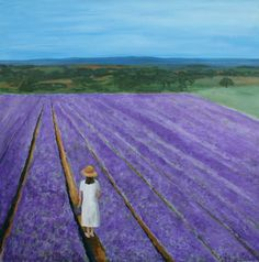"Saatchi Art Artist Robert Harris; Painting, ""Lavender Field"" #art"