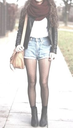 Shorts with tights perfect for autumn