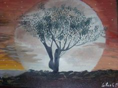 "Saatchi Art Artist bratu mihaela; Painting, ""The moon"" #art"