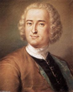 'Portrait of a Man', Pastel by Rosalba Carriera (1675-1757, Italy)