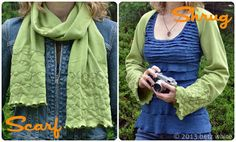 Scarf-to-Shrug Tutorial - Betz White