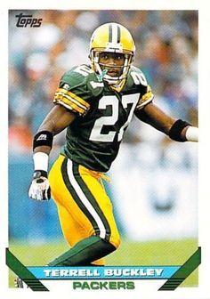 1993 Topps #384 Terrell Buckley Greenbay Packers NFL Football Card #GreenBayPackers