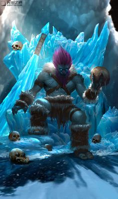 Trundle the Troll King, Zheng Sun League Of Legends Heroes, Champions League Of Legends, Lol Champions, Lol Of Legends, Dark Fantasy, Fantasy Art, Epic Art, Hero Arts, Mythical Creatures