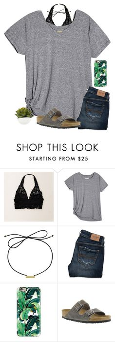 """This is so tumblr-y "" by ab1525 ❤ liked on Polyvore featuring Aerie, Laundry by Shelli Segal, Abercrombie & Fitch, Casetify and Birkenstock"