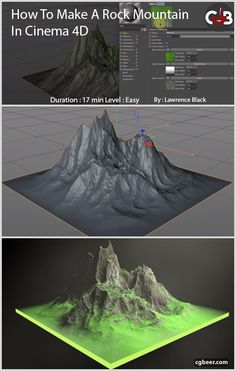 In this Tutorial I'll show you How To Make a Rock Mountain in Cinema 4D.#tutorials,#cg,#3dmodeling,#sharder,#cenema4d.#c4d