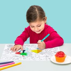 OMY coloring placemats A Table, Plastic Cutting Board, Instagram Posts, Kids, Decor, Studio, Products, Children, Dekoration