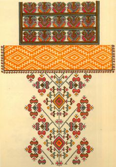 Folk Embroidery Patterns Folk Embroidery of Zastawna county, Cherniwtsi oblast, Bukovyna, Ukraine Palestinian Embroidery, Hungarian Embroidery, Folk Embroidery, Cross Stitch Embroidery, Embroidery Patterns, Cross Stitch Borders, Cross Stitch Patterns, Blackwork, Embroidery Techniques