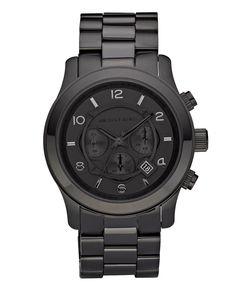 981847fbe9 Michael Kors  Blacked Out Runway  Chronograph Watch Michael Kors Black