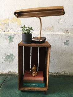 Vintage Apple Crate End Table