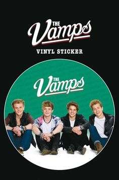 Set: The Vamps, Sit Sticker Adhesive Decal (6x4 inches) and 1x 1art1® surprise Sticker