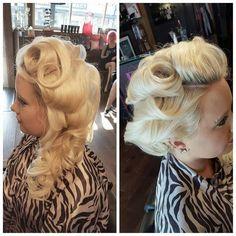 Vintage glamour hair