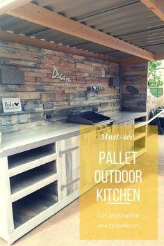 Must-See Pallet Outdoor Dream Kitchen