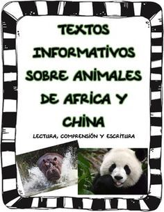Five great reading comprehension informational texts in Spanish about animals in Africa and China.  Each text comes with a question sheet for reading comprehension.My students loved learning all the interesting facts about these animals!!