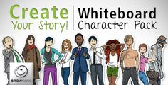 Create Your Story Whiteboard Character Pack