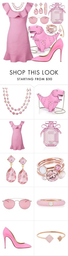"""""""Cotton Candy Pink"""" by alyssawui ❤ liked on Polyvore featuring Chanel, Kate Spade, Valentino, Victoria's Secret, Emily & Ashley, Ted Baker, Maison Margiela, Adolfo Courrier, Christian Louboutin and Michael Kors"""