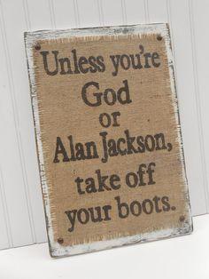 Alan Jackson Burlap