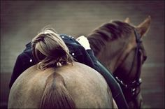 a girl and her horse -love